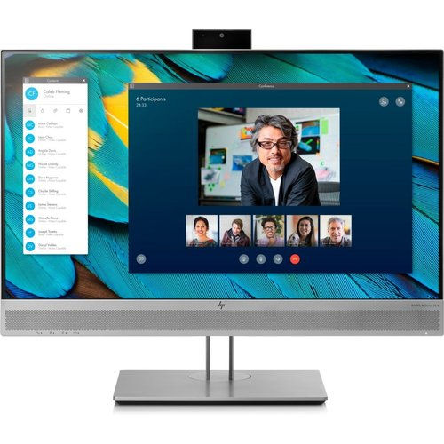 "Hewlett Packard MON HP EliteDisplay E243m LED 23.8"" F-HD Flat Zwart, Zilver"
