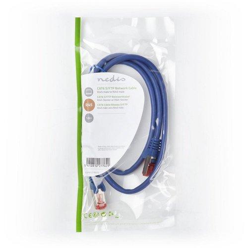 Nedis CAT6 S/FTP-netwerkkabel/RJ45 1m Blauw