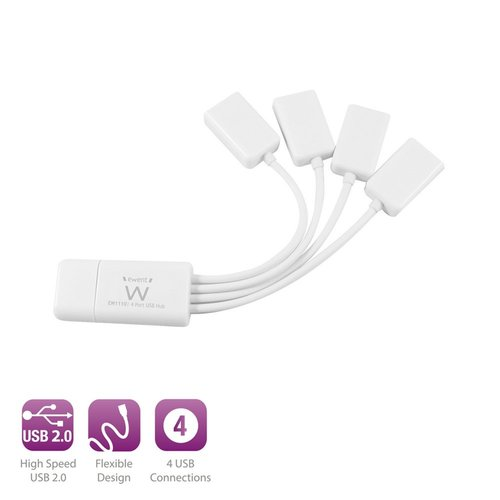 Ewent USB 2.0 Hub 4 port without adapter spider model