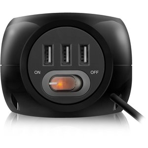 Ewent Power block 3 USB charging ports, 3 outlets