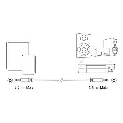 Ewent Professional Audio Connection Cable Mini Jack M-M