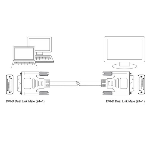 Ewent DVI-D Dual Link Connection Cable male-male 2 Meter