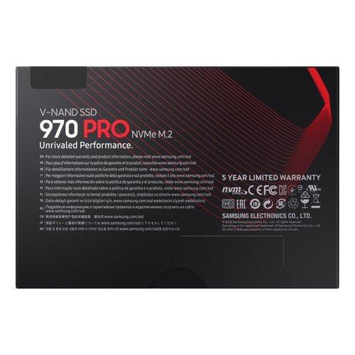 Samsung SSD  970 Pro  M.2 512GB PCI Express MLC 3d-vnand