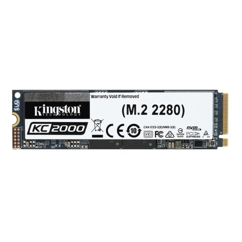 Kingston Technology KC2000 M.2 500 GB PCI Express 3.0 3D TLC NVMe