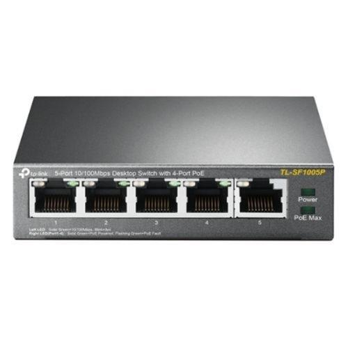 TP-Link TP-LINK TL-SF1005P Unmanaged Fast Ethernet (10/100) Zwart Power over Ethernet (PoE)
