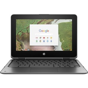 "Hewlett Packard HP Chromebook x360 11 G1 Zilver 29,5 cm (11.6"") 1366 x 768 Pixels Touchscreen Intel® Celeron® 4 GB LPDDR4-SDRAM 32 GB eMMC Wi-Fi 5 (802.11ac) Chrome O"