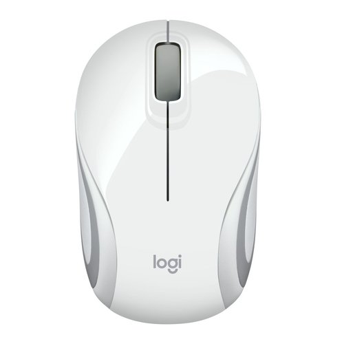 Logitech M187 Wireless Mini Mouse White