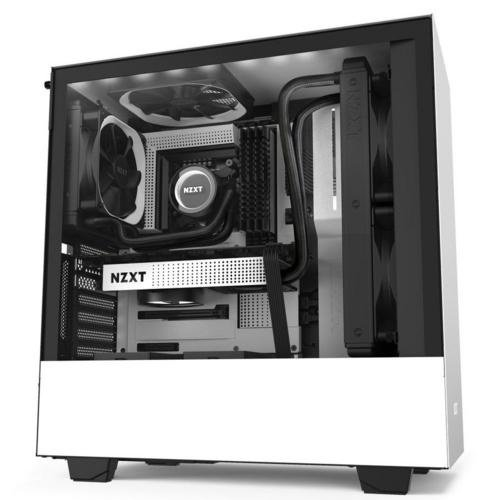 NZXT Case  H510i Zwart Wit / Glass window