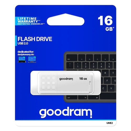 Goodram Storage  Flashdrive 16GB USB2.0 White