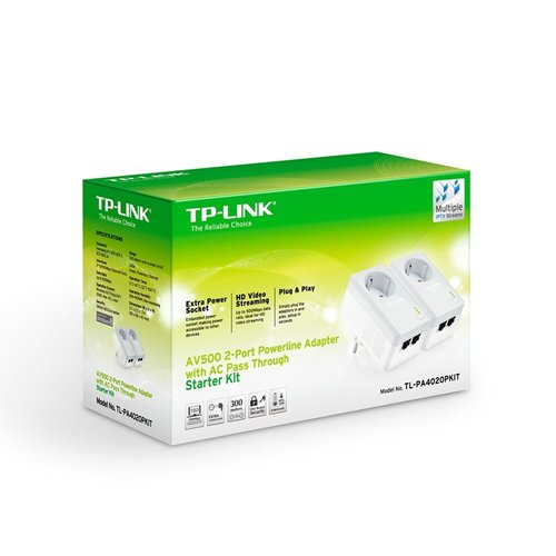 TP-Link AV500 2x Powerline adapter + stopcontact