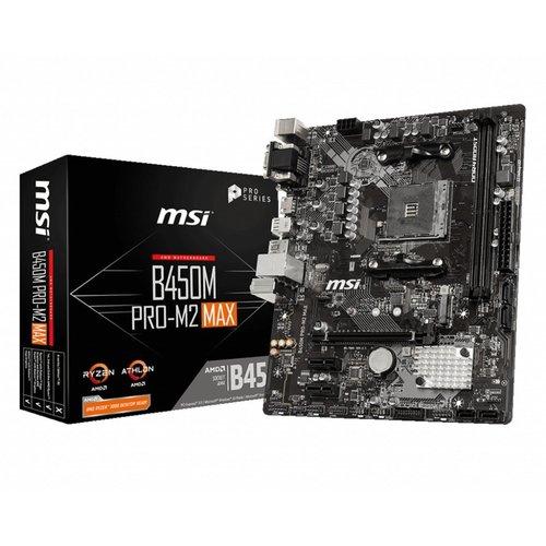 MSI MB  B450M PRO-M2 MAX Socket AM4 micro ATX AMD B450