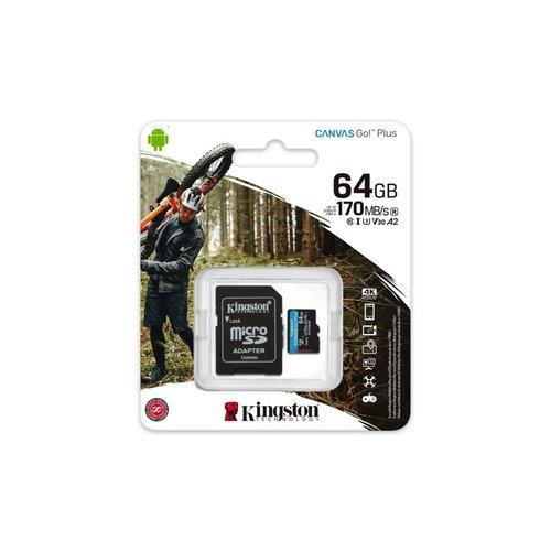 Kingston Technology Canvas Go! Plus flashgeheugen 64 GB Micr