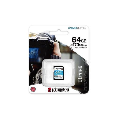 Kingston Technology Canvas Go! Plus flashgeheugen 64 GB SD K