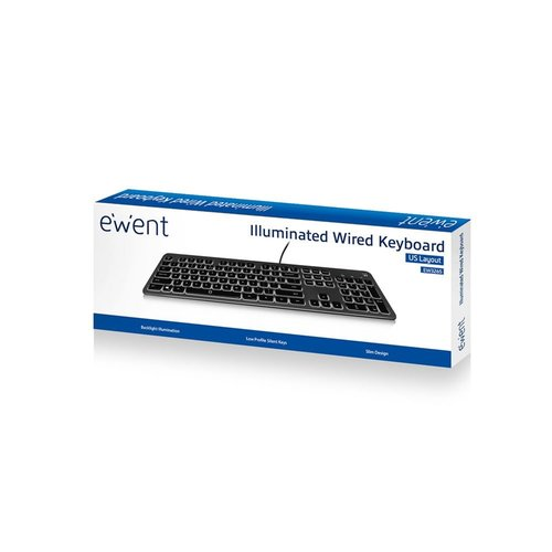 Ewent Keyboard with Backlight USB Qwerty