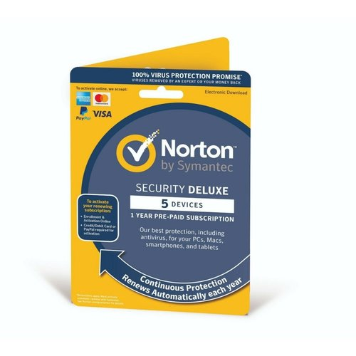 Symantec Norton Security Deluxe 1 User 5 Devices OEM
