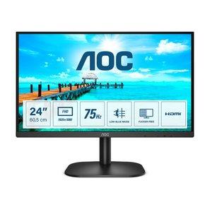 """AOC B2 24B2XHM2 computer monitor 60,5 cm (23.8"""") 1920 x 1080 Pixels Full HD LCD Zwart"""