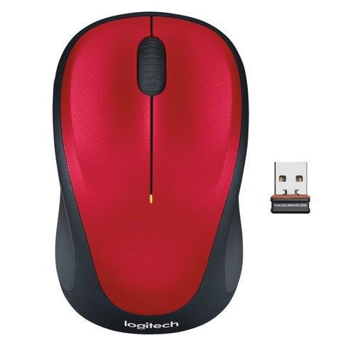 Logitech Ret. Wireless Mouse M235 Red