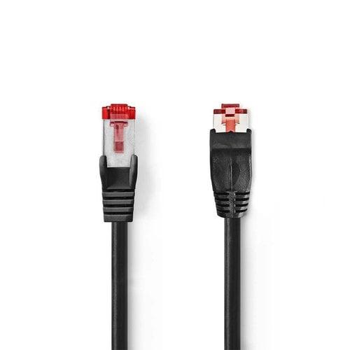 Nedis CAT6 SF/UTP-netwerkkabel/RJ45 1m Zwart