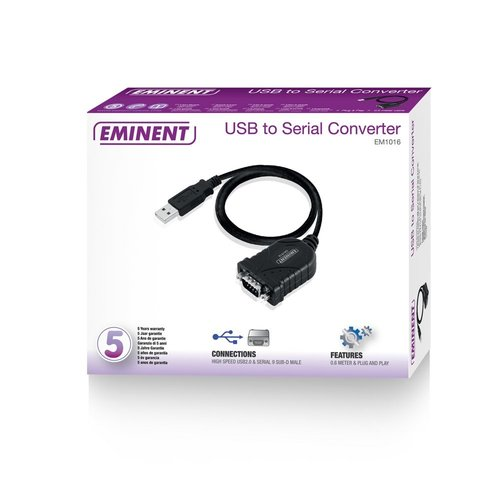 Eminent EM1016 seriële kabel Zwart 0,6 m USB A RS-232
