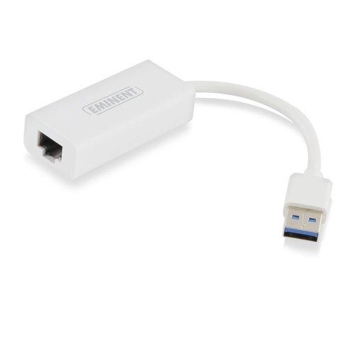 Eminent EM1017 kabeladapter/verloopstukje USB RJ45 Wit