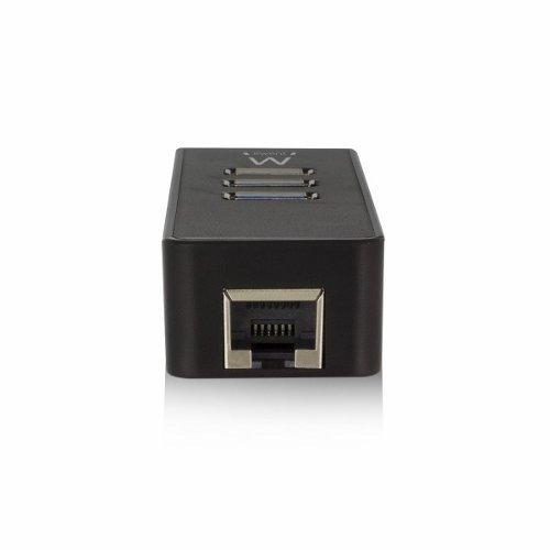 Ewent USB 3.1 Gen 1 (USB 3.0) Hub 3 port with Gigabit netw.
