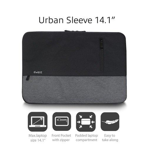 "Ewent Urban Sleeve 14.1"", BLACK/GREY"