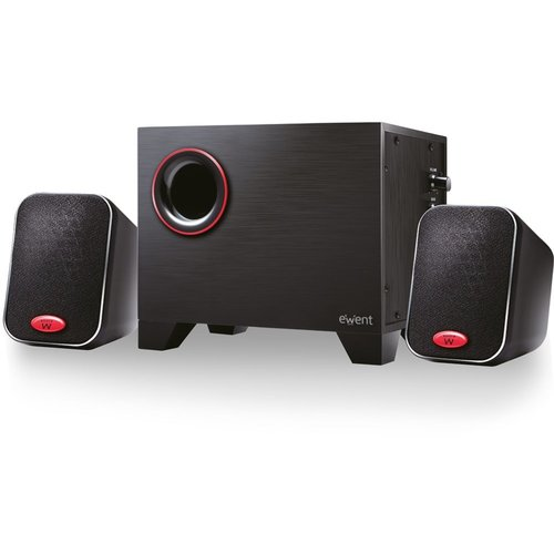 Ewent EW3505 luidspreker set 2.1 kanalen 15 W Zwart