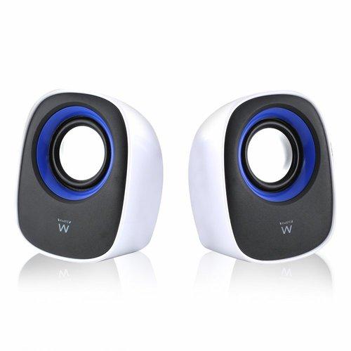Ewent EW3513 luidspreker 1-weg 5 W Zwart, Blauw, Wit Bedraad