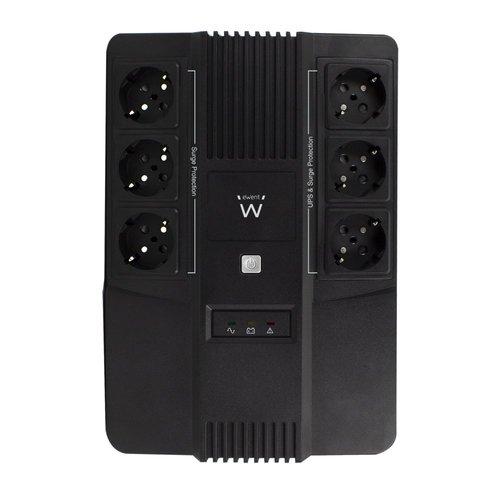 Ewent UPS 600VA Line Interactive with AVR, 6 x CEE7/3 port