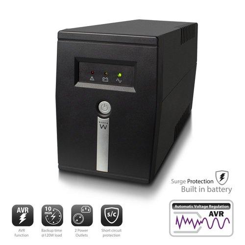 Ewent UPS 600VA Line Interactive with AVR, 1 x CEE7/3 port &