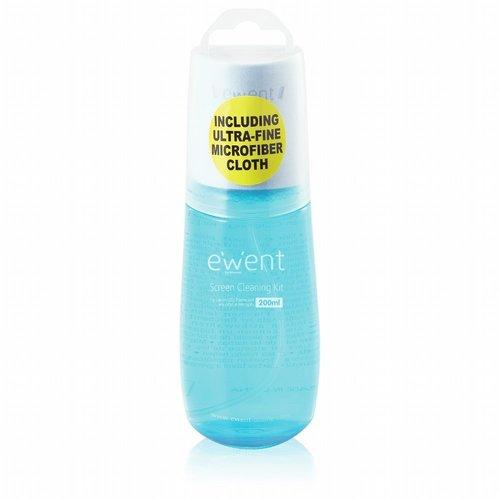 Ewent EW5671 computerreinigingskit Vloeistof voor apparatuurreiniging Beeldschermen/Plastik 200 ml