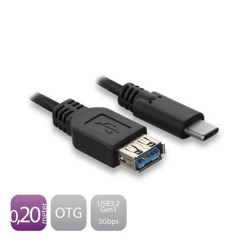 Ewent USB-C - Type-A female OTG Cable USB 3.2 Gen1 0.2 M