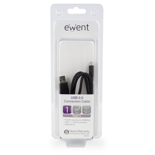 Ewent Type-C-Type-A male Converter Cable USB 2.0  1.0 Meter