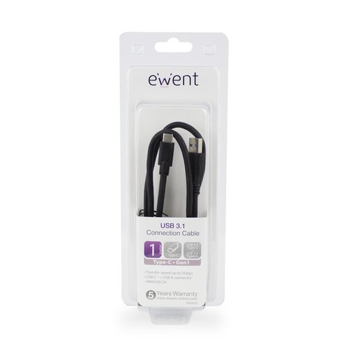 Ewent Type-C - Type-A male Converter Cable USB 3.1 Gen1 (USB 3.0)