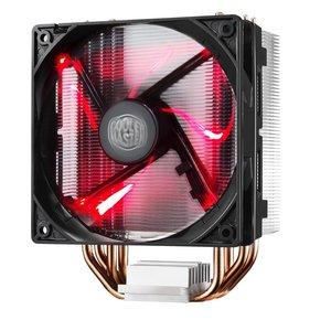 CoolerMaster Cooler Master Hyper 212 LED Processor Koeler 12 cm Zwart, Metallic, Rood