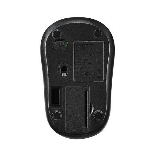 Rapoo M10Plus 1000dpi Wireless Optical Mouse - Black