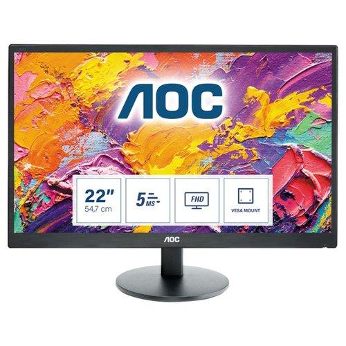 "AOC 70 Series E2270SWDN LED display 54,6 cm (21.5"") 1920 x 1080 Pixels Full HD Zwart"