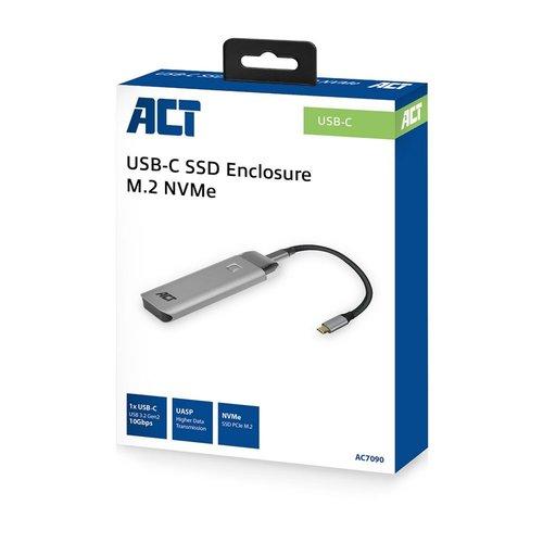 ACT USB-C Gen2 M.2 NVMe SSD enclosure , metal housing