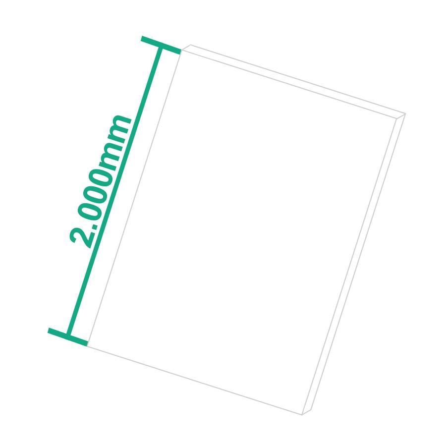 Hart-PVC Kunststoffplatte Weiß