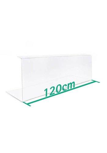 A+H Kunststoffe Spuckschutz Thekenaufsatz 120cm Typ 2
