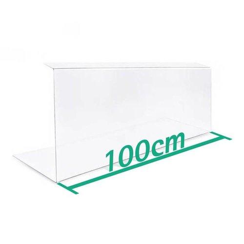 A+H Kunststoffe Spuckschutz Thekenaufsatz 100cm Typ 2