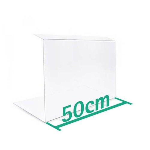 A+H Kunststoffe 50cm | Spuckschutz Hustenschutz | Typ 2 | 4-6 mm dick