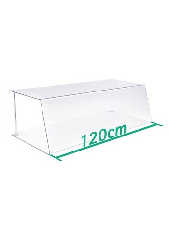 A+H Kunststoffe Spuckschutz Thekenaufsatz 120cm Typ 1