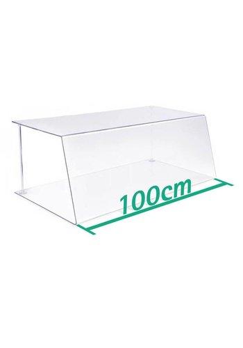 A+H Kunststoffe Spuckschutz Thekenaufsatz 100cm Typ 1