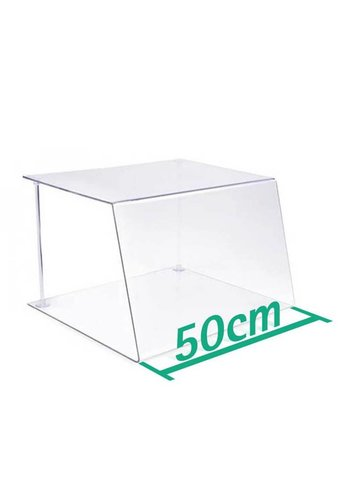 A+H Kunststoffe Spuckschutz Thekenaufsatz 50cm Typ 1