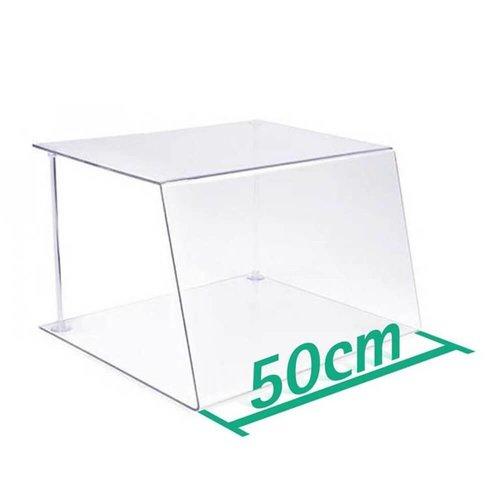 A+H Kunststoffe 50cm | Spuckschutz Hustenschutz | Typ 1 | 4-6 mm dick
