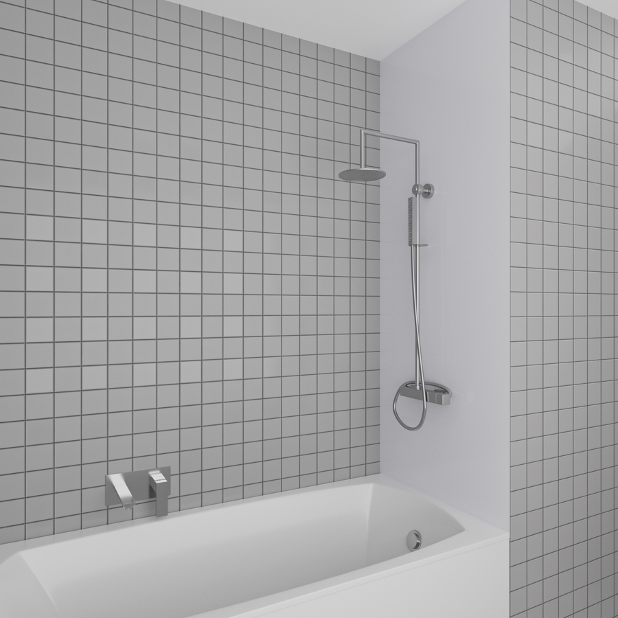 Duschrückwand weiß | 200x100 cm