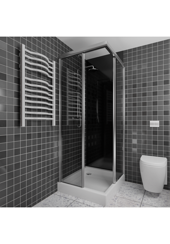Duschrückwand schwarz | 200x100 cm