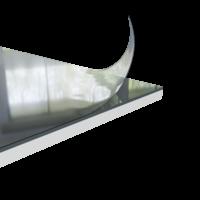Duschrückwand dunkelgrau | 220x100 cm