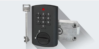 Elektronisch slot met noodopening TULOX standaard op alle zakelijke sleutelkluizen